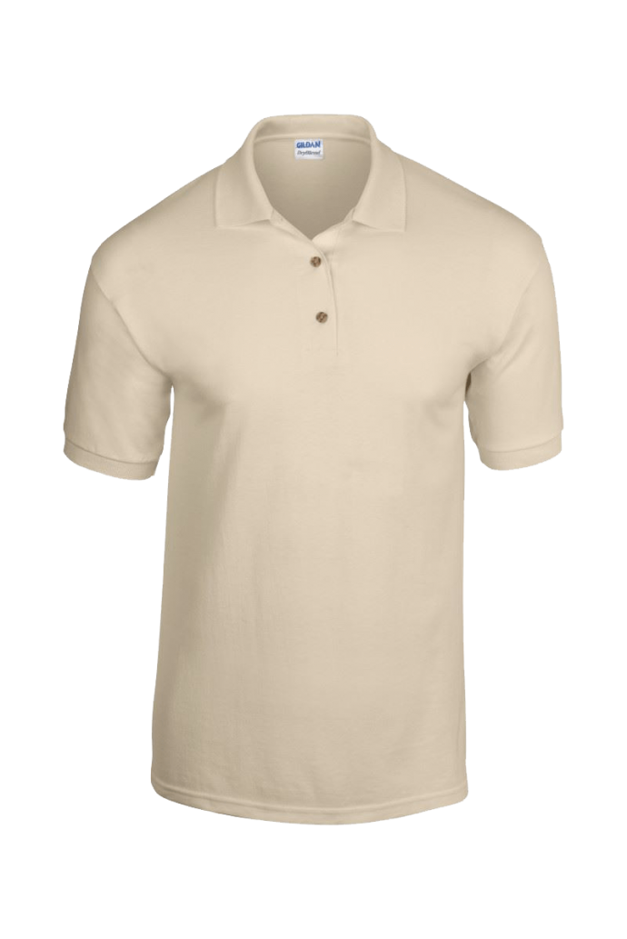 beige polo shirt