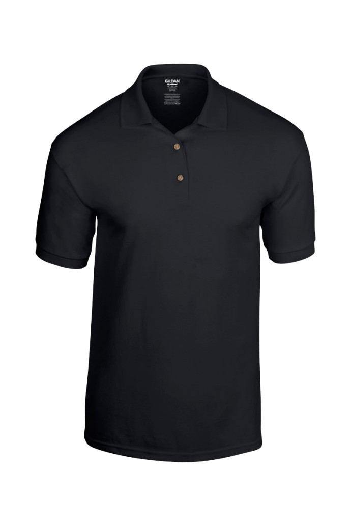 plain black polo shirt
