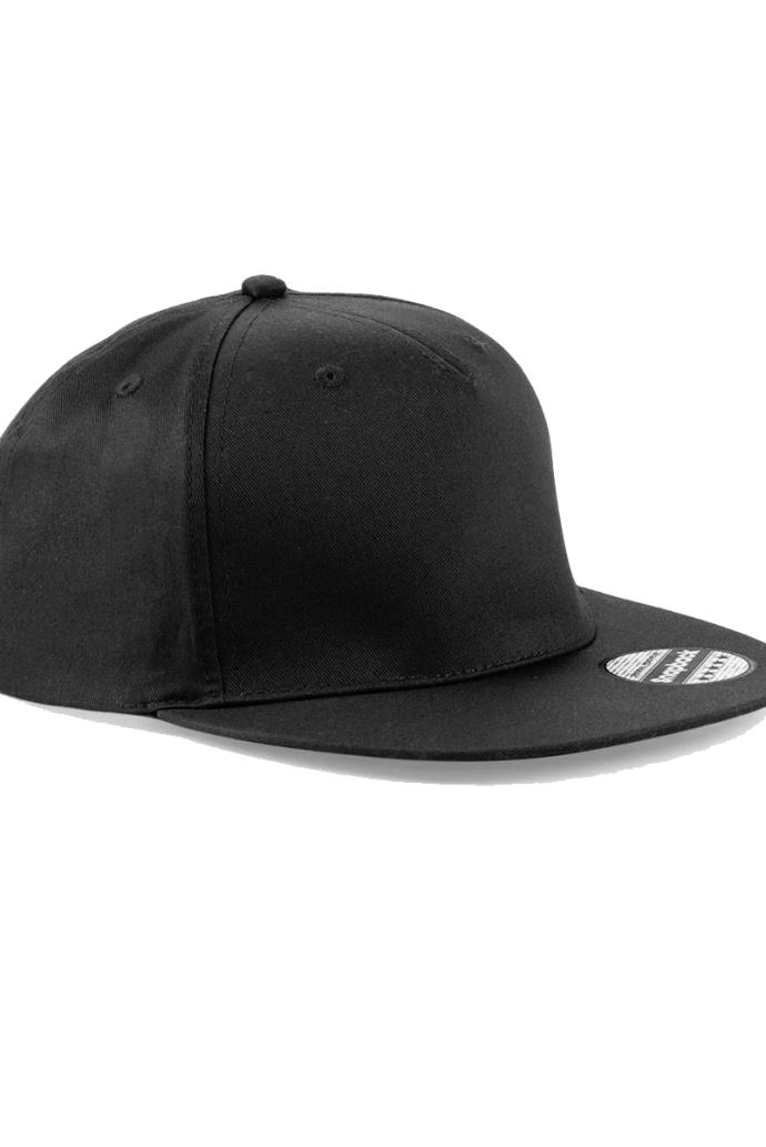 plain blacksnapback cap