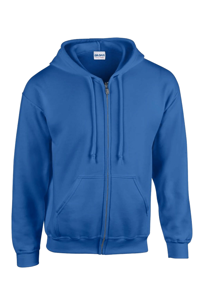 plain blue personalised hoodie