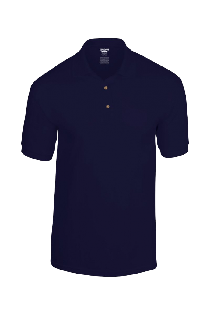 personalised navy blue polo shirt