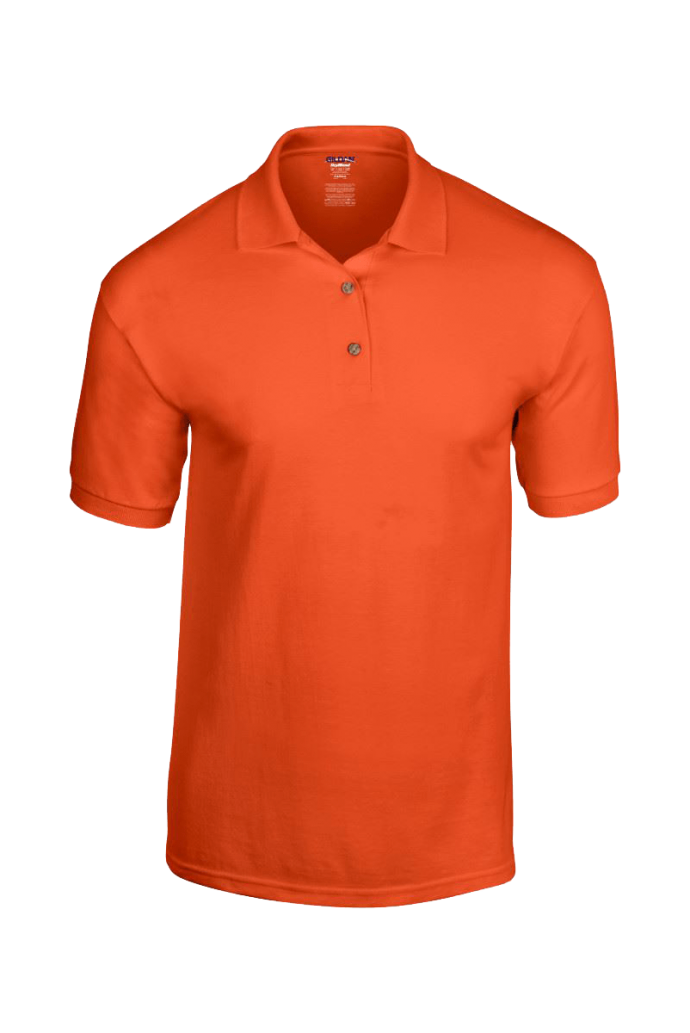 plain orange polo shirt