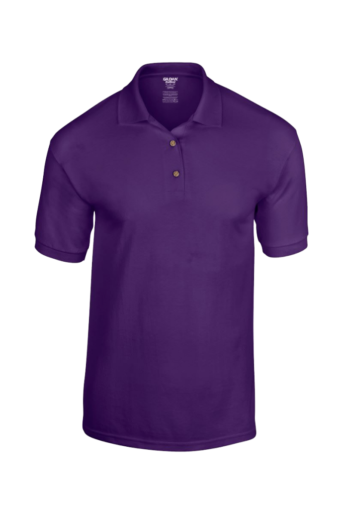 custom polo shirt in purple