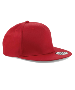 plain red snapback cap
