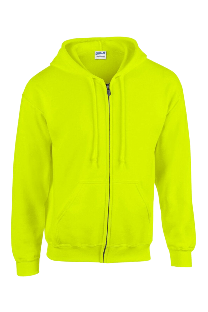 bright neon yello colour hoodie