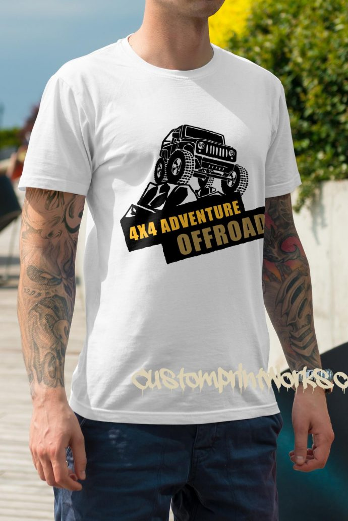 white 4x4 t-shirt adventure off road