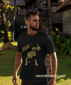 bull terrier dog t-shirt in black and gold