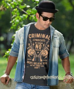 criminal syndicate t-shirt in black