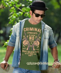 criminal syndicate t-shirt in green