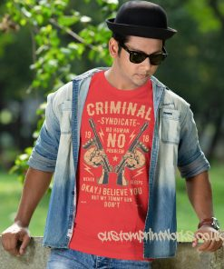 criminal syndicate t-shirt in red
