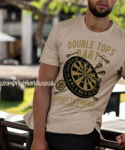 darts t-shirt double tops in beige and gold