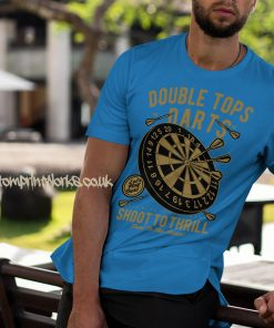 darts t-shirt double tops in sky blue and gold