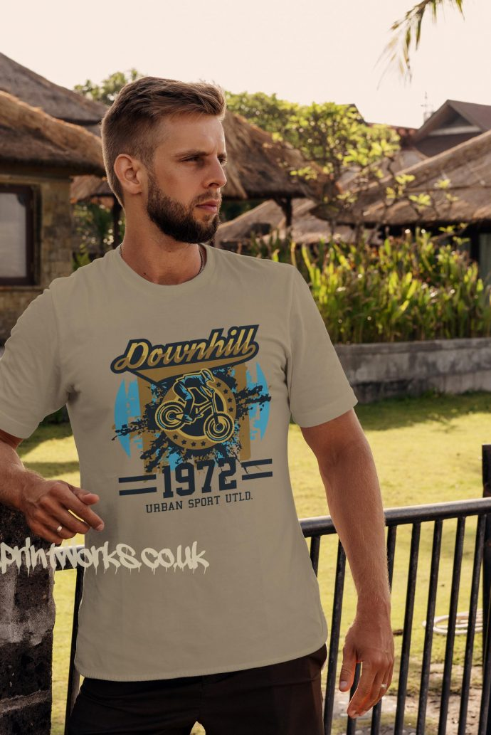 downhill mountain bike tshirt in beige