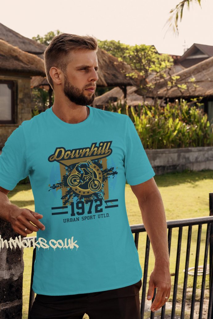 downhill mountain bike tshirt in sky blue