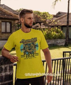 downhill mountain bike tshirt in yellow