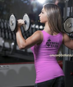 Womens fitness clubb personal trainer vest in pink
