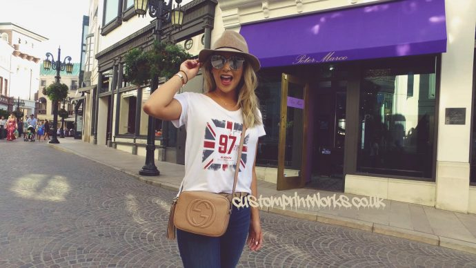 Great Britain city of Glasgow t-shirt in white