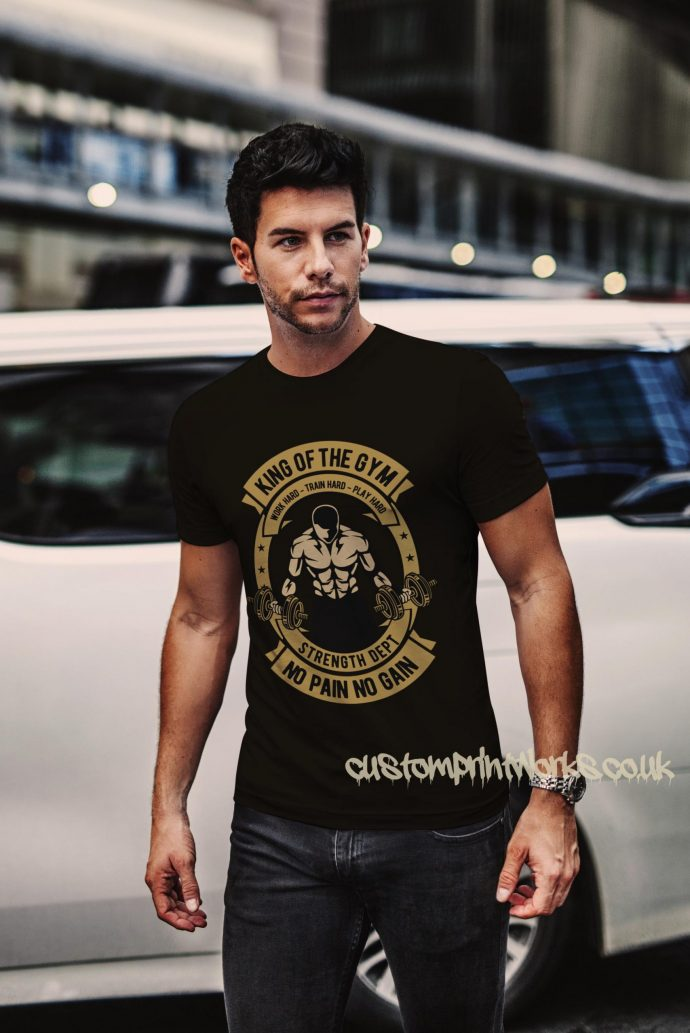 king of the gym t-shirt in black