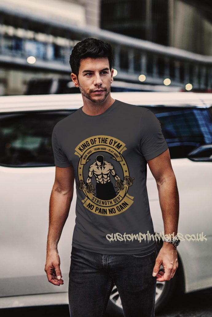 king of the gym t-shirt in grey