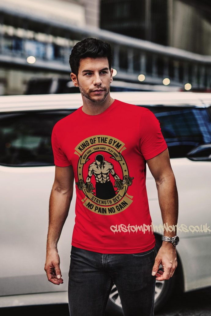 king of the gym t-shirt in red