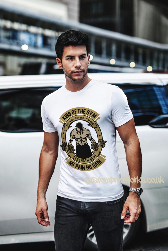 king of the gym t-shirt in white