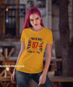 Great Britian London T-Shirt in yellow
