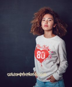 Love heart seatshirt jumper in heather grey