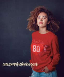 Love heart seatshirt jumper in red