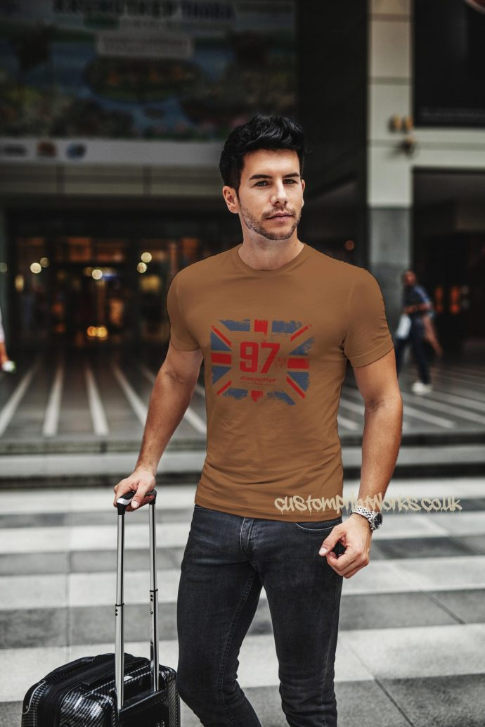 brown Great Britain t-shirt city of Manchester