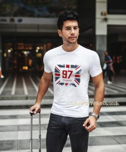 white Great Britain t-shirt city of Manchester