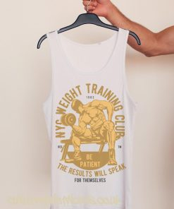 white gym vest New York weight training club