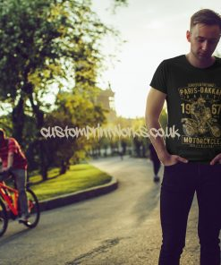 black Paris Dakkar rally t-shirt