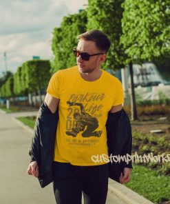yellow parkour t-shirt