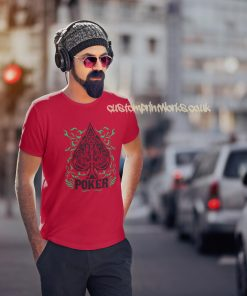 red poker t-shirt