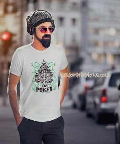white poker t-shirt