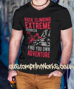 black rock climbing t-shirt