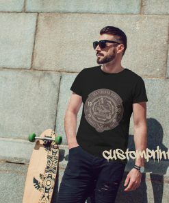 black skateboarder t-shirt