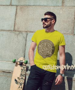 yellow skateboarder t-shirt