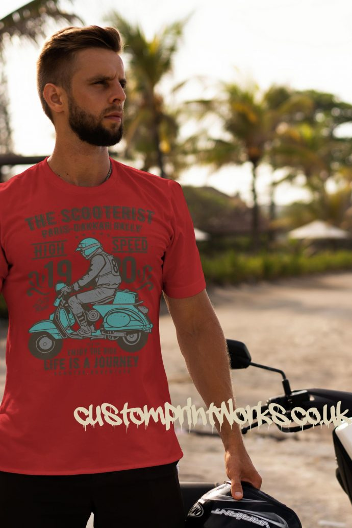 red mod Scooter t-shirt