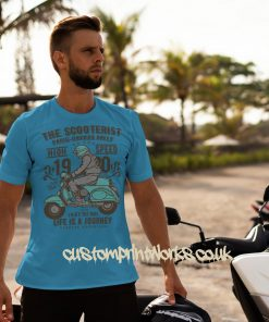 sky blue mod Scooter t-shirt