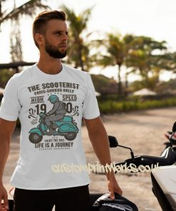 white mod Scooter t-shirt