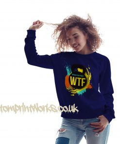 witness the fitness womens gym sweatshirt in navy blue