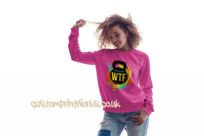 witness the fitness womens gym sweatshirt in pink