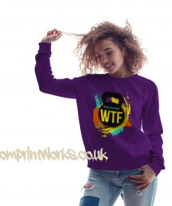 witness the fitness womens gym sweatshirt in purple