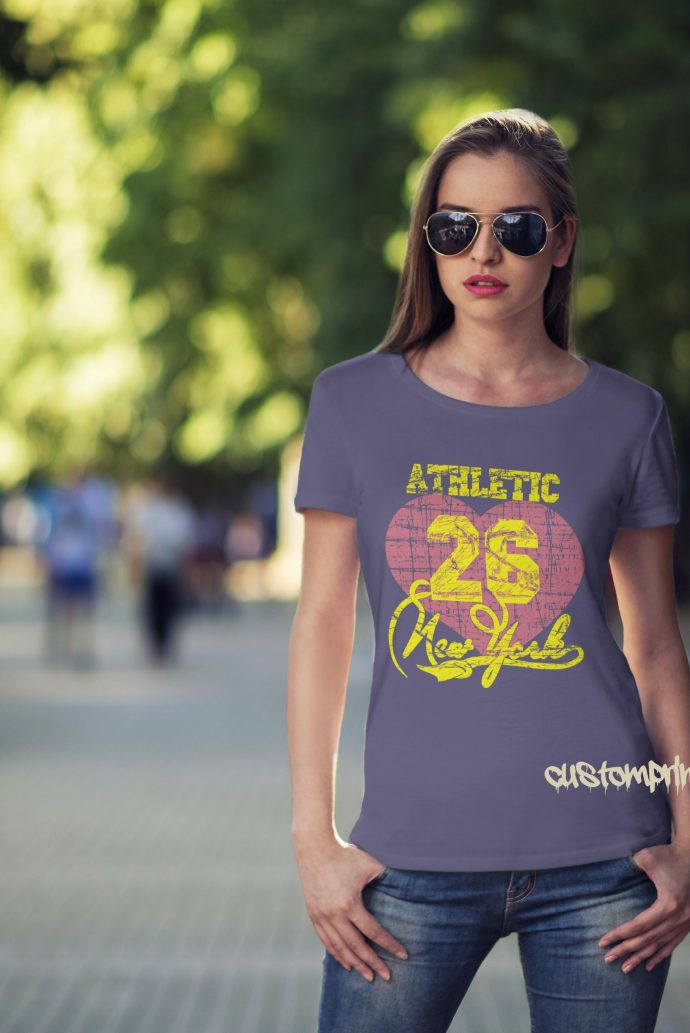 New York Athletic t-shirt in purple