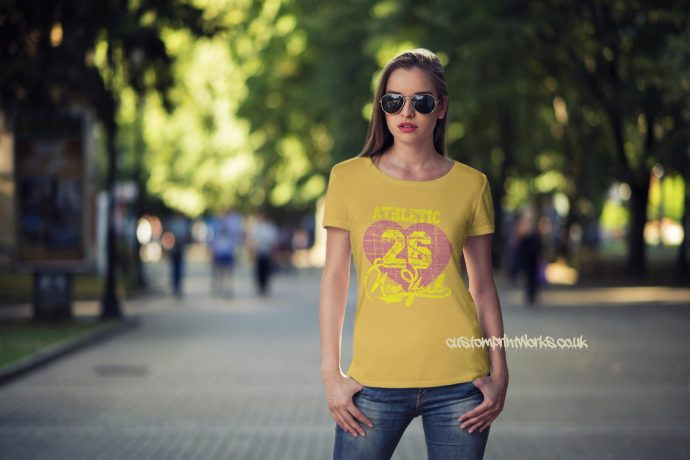 New York Athletic t-shirt in yellow