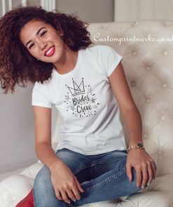 brides crew t-shirt with crown