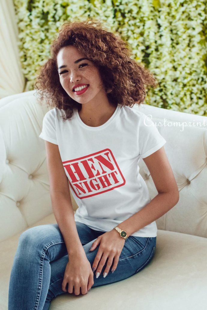 hen night t-shirt in a-team theme style