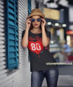 Love New York T-Shirt in black with red print
