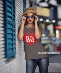 Love New York T-Shirt in grey with red print
